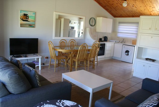 Openplan living area at Cottage 36 Seaside Cottages Fish Hoek