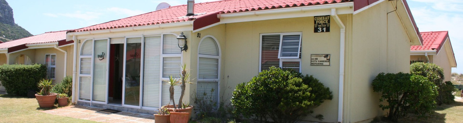 Front View of Cottage 31 at Seaside Cottages Fish Hoek