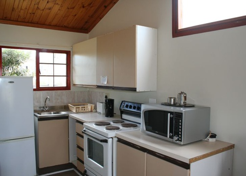 Kitchen of Cottage 53 at Seaside Cottages Fish Hoek