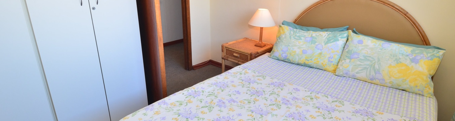 Main bedroom of cottage 62,self catering accommodation,fish hoek beach,fish hoek property,fish hoek chalets,things to do in fish hoek