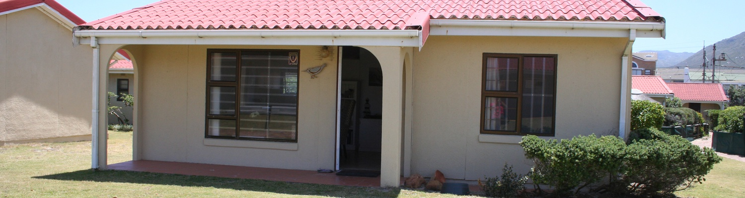 Front View of Cottage 40 at Seaside Cottages Fish Hoek