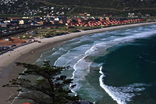 View of  Seaside Cottages from Elsies Peak - Fish Hoek
