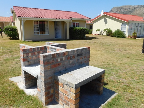 Braai area outside cottage 32 - Seaside Cottages Fish Hoek