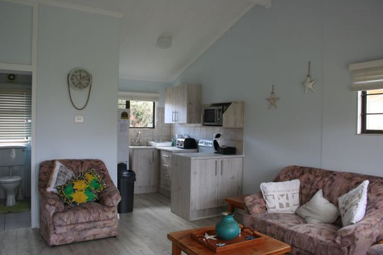 Openplan Living and Kitchen of Cottage 19 - Seaside Cottages Fish Hoek