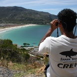 A shark spotter keeping a look out.