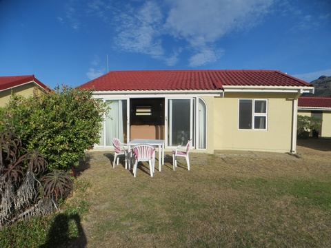 Front view of Cottage 36 at Seaside Cottages Fish Hoek