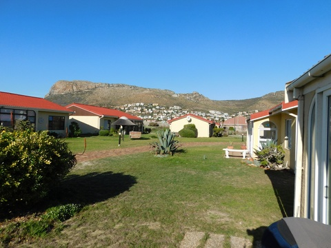 View from Cottage 36 at Seaside Cottages Fish Hoek