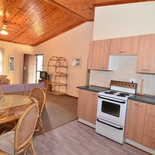 Kitchen and dining area of Cottage 62, Seaside Cottages Fish Hoek