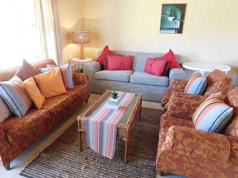 Lounge area of cottage 32 - Seaside Cottages Fish Hoek