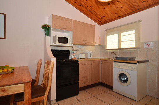 Kitchen area of Cottage 39 - Seaside Cottages Fish Hoek