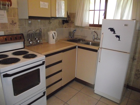 Kitchen area of cottage 50 - Seaside Cottages Fish Hoek