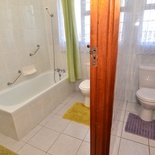 Bathroom and toilet area of Cottage 62, Seaside Cottages Fish Hoek