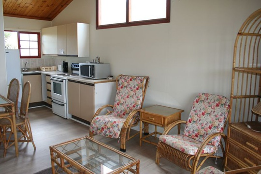Openplan living area at Cottage 53 Seaside Cottages Fish Hoek