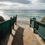 Beach Access pathway next to cottages 66 and 67- Seaside Cottages Fish Hoek