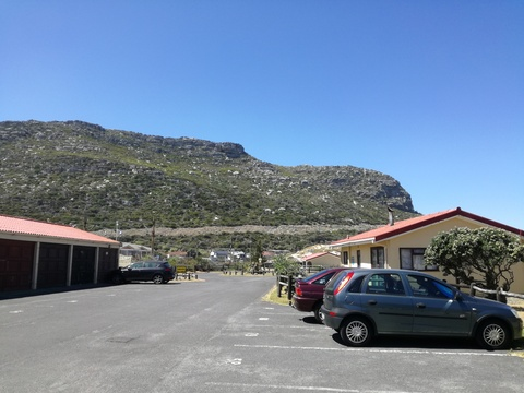 Parking Area outside Cottage 18 - Seaside Cottages Fish Hoek