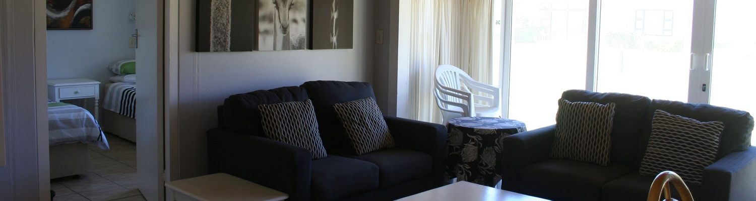 Lounge area of Cottage 36 at Seaside Cottages Fish Hoek
