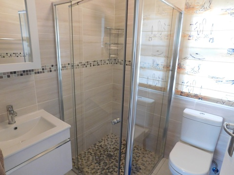 Bathroom with Shower of Cottage 36 at Seaside Cottages Fish Hoek