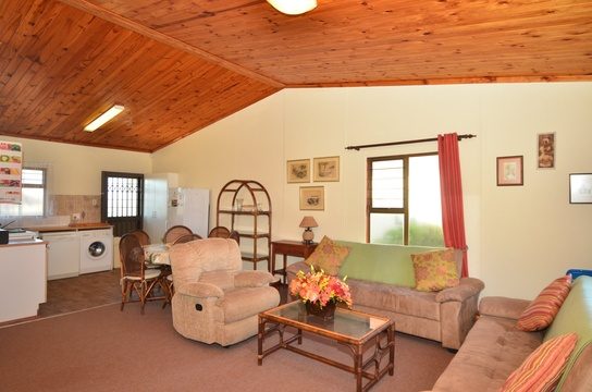 Lounge and Kitchen area of Cottage 72  - Seaside Cottages Fish Hoek