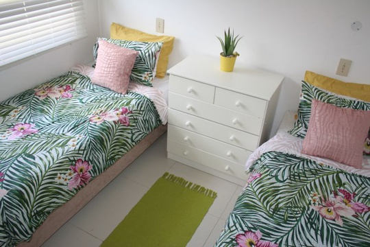 Second bedroom with twin beds at Cottage 31 Seaside Cottages Fish Hoek