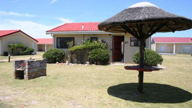Rear Entrance and Braai (BBQ) at Cottage 40 - Seaside Cottages Fish Hoek