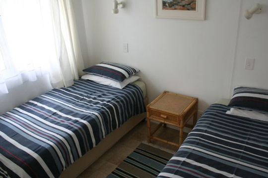 Second Bedroom with twin beds at Cottage 44 - Seaside Cottages Fish Hoek