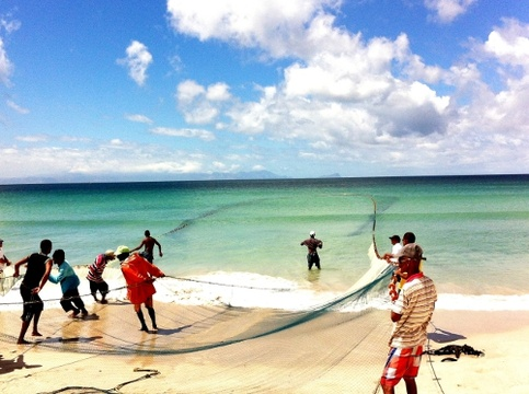 Trek Fishermen on Fish Hoek Beach
