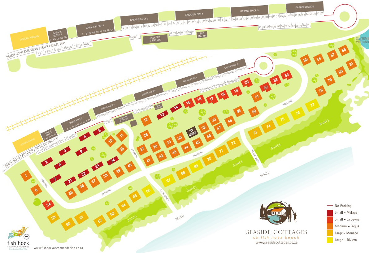 Map of Seaside Cottages